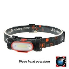 LED Lights Manufacturer, LED Headlamp, Head Flashlight, Rechargeable LED Headlamp BG-H004 Wave Hand Operation