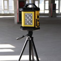 LED Lights Manufacturer, LED Work Light, Construction Lights, Tripod Work Light BG-W016 Tripod Installed